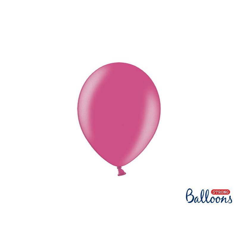 Balony 12 cm, Metallic Hot Pink
