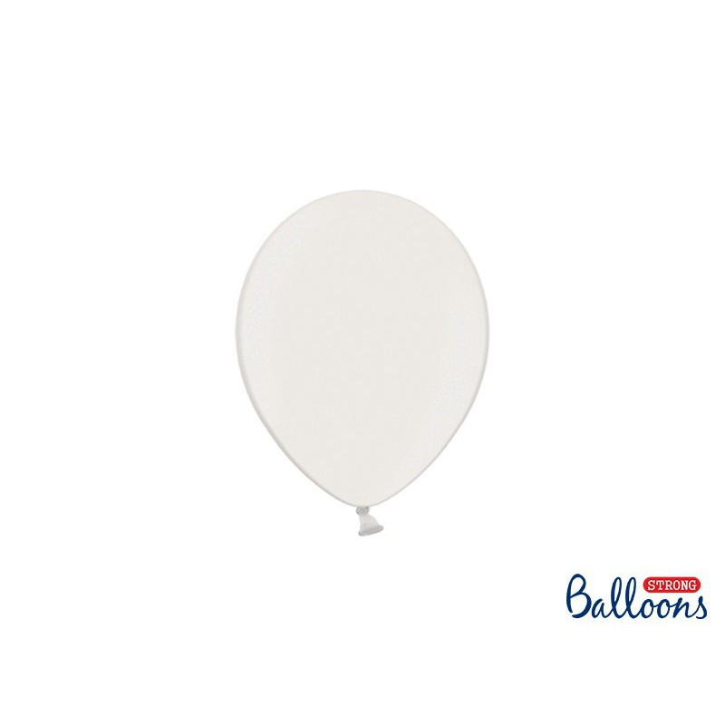 Balony 12 cm, Metallic Pure White
