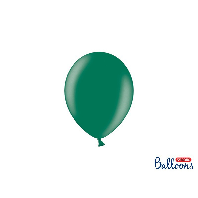 Balony 12 cm, Metallic Bottle Green
