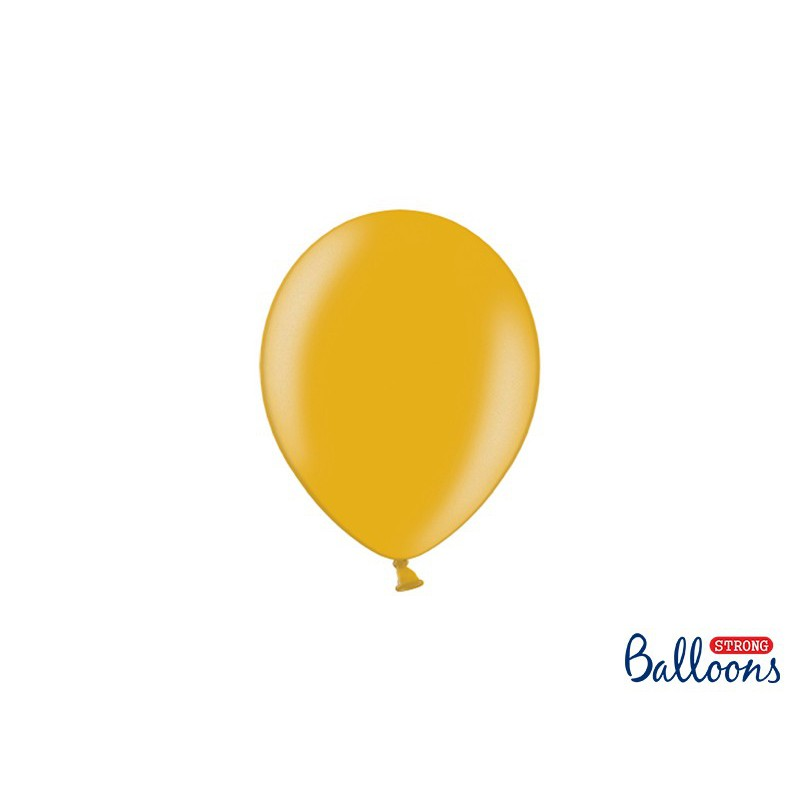 Balony 12 cm, Metallic Gold