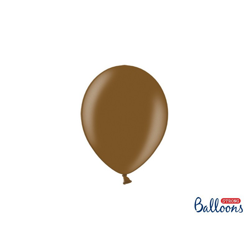 Balony 12 cm, Metallic Chocolate Brown