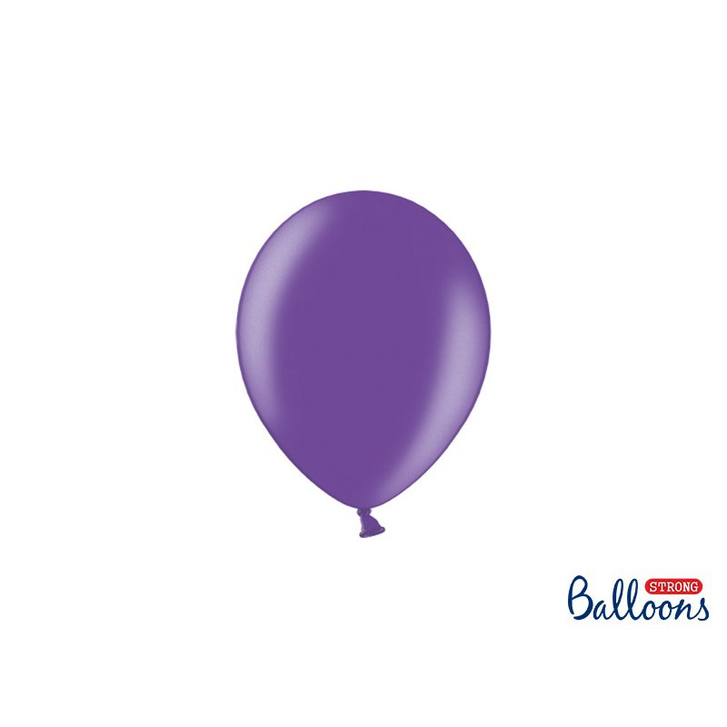 Balony 12 cm, Metallic Purple