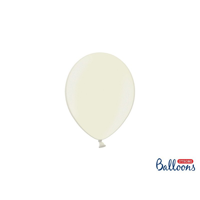 Balony 12 cm, Metallic Light Cream