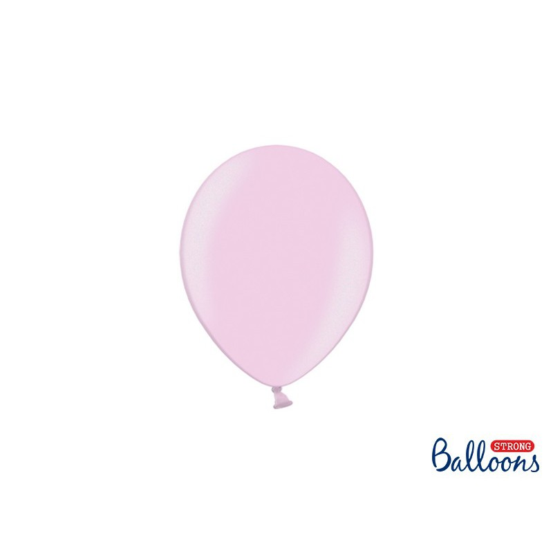 Balony 12 cm, Metallic Candy Pink