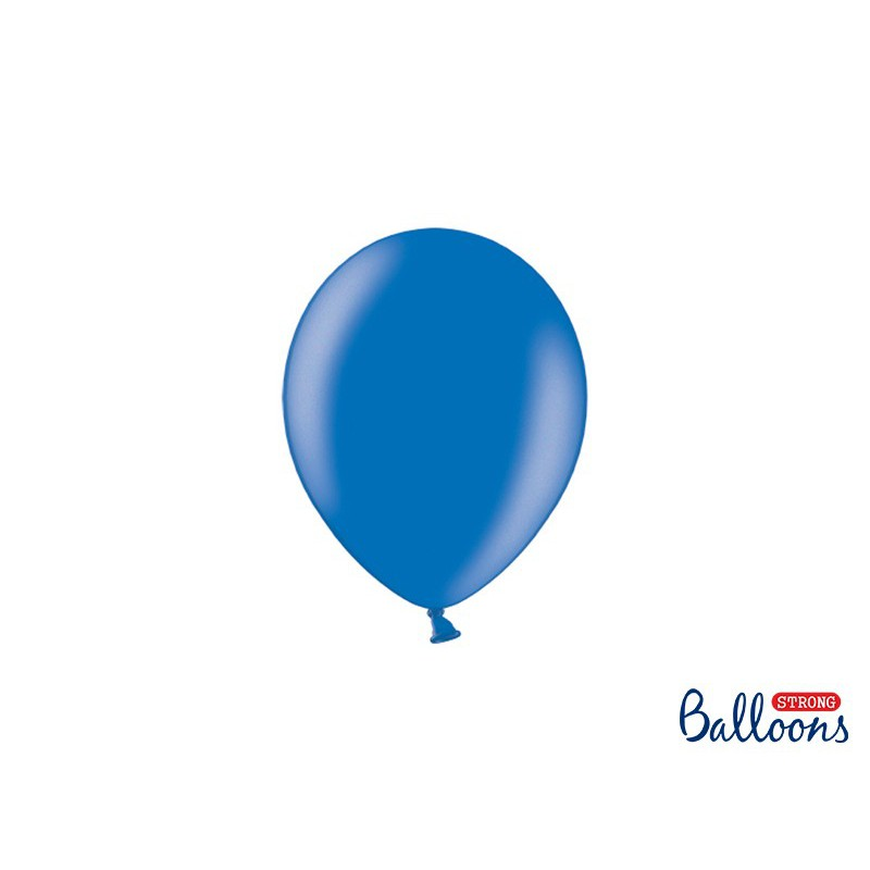 Balony 12 cm, Metallic Blue