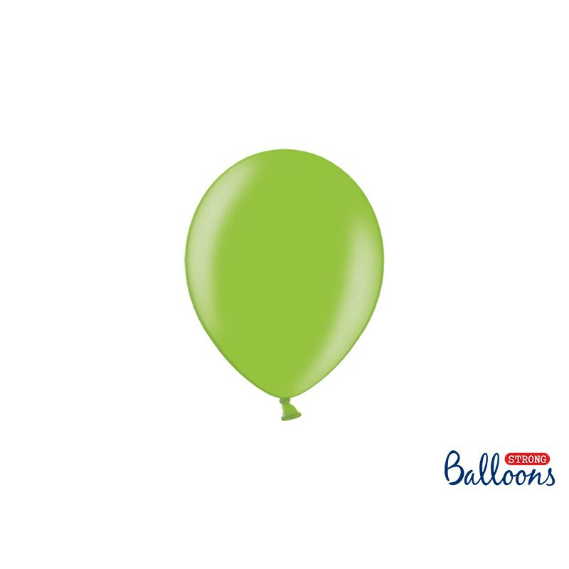 Balony 12 cm, Metallic Bright Green