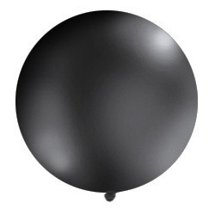 Balon 1m, okrągły, Pastel czarny