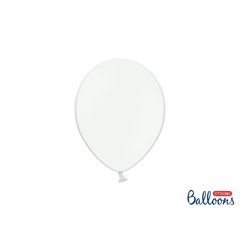 Balony 25 cm, Pastel Pure White