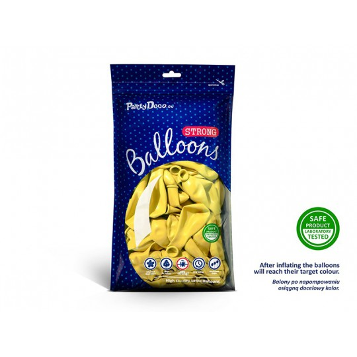 Balony 25 cm, Pastel Lemon Zest
