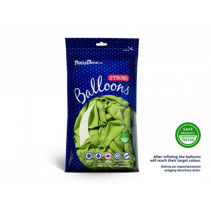 Balony 25 cm, Pastel Lime Green