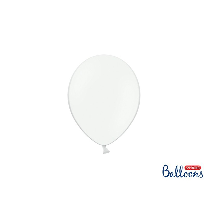 Balony 12 cm, Pastel Pure White
