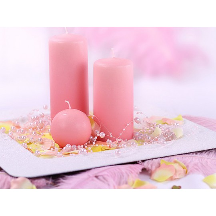 Girlandy perłowe, j. różowy, 1,3m