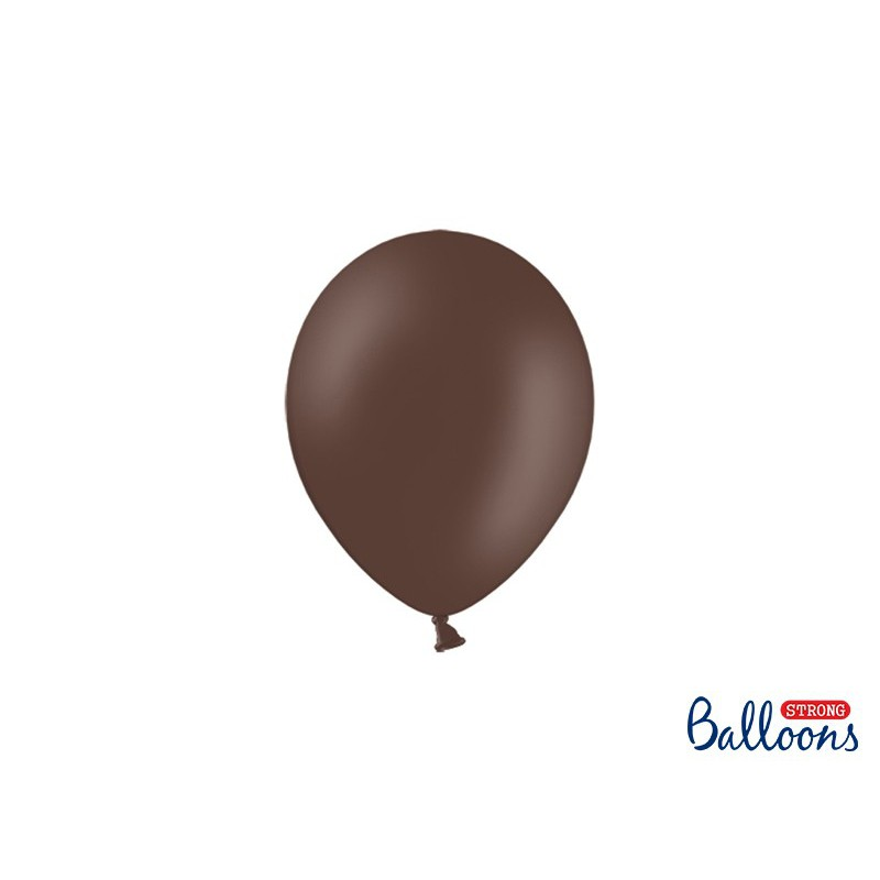 Balony 12 cm, Pastel Cocoa Brown