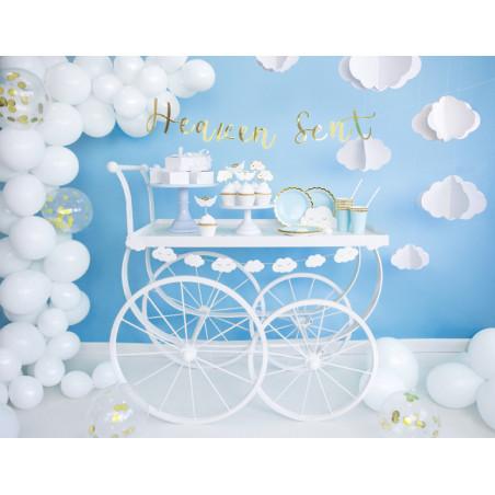 Balony 35 cm, Zoo, Pastel Pure White