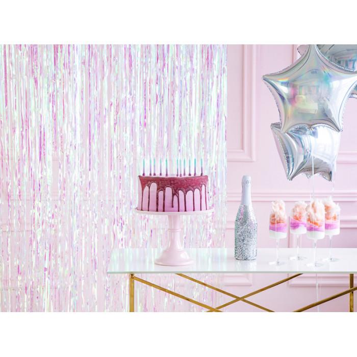 Balony 35 cm, Gwiazdki, Metallic Pure White