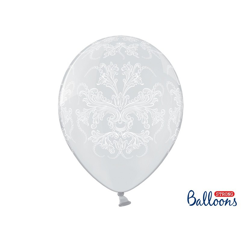 Balony 35cm, Ornament, Crystal Clear