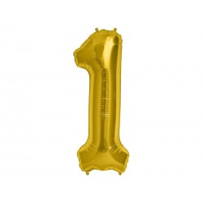 """Balon foliowy 34"""" Cyfra 1, złoty"""