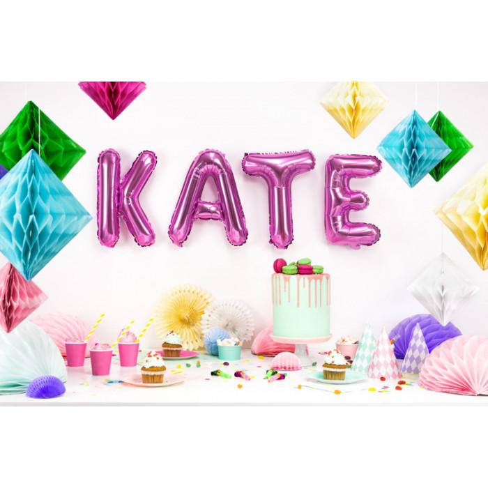 Kwiatki z dżetem do przylepiania, biały, 8cm