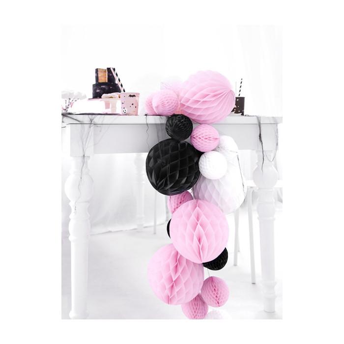 Kokardy z różyczką, biały, 18cm