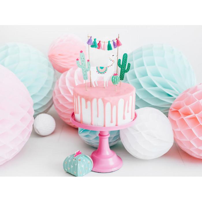 Kokardy z różyczką, j. kremowy, 18cm