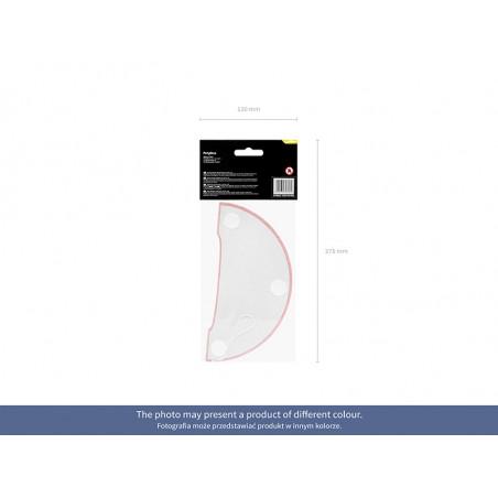 Kryształowe serca, czerwony, 21mm