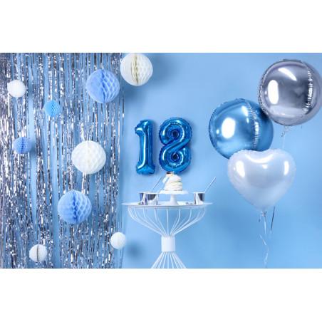 Kryształowe serca, fiolet, 21mm