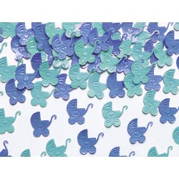 Konfetti Wózki, niebieski i błękit, 15g