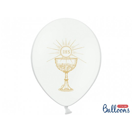 Balony 35 cm, IHS, Pastel Pure White