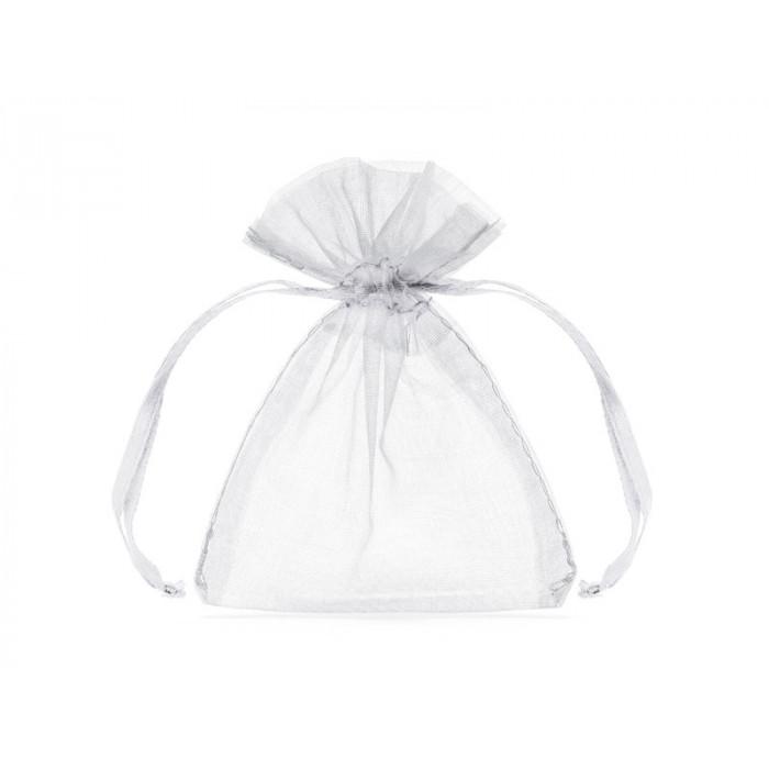 Organza obszywana - turkusowa - 38cm x 9m