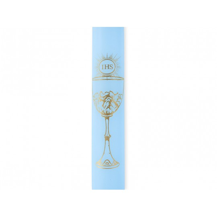 Świece komunijne, błękitny, 29cm
