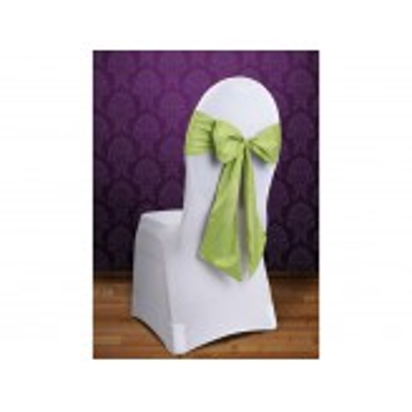 Szarfy na krzesło, j. zielony, 0,15 x 2,75m