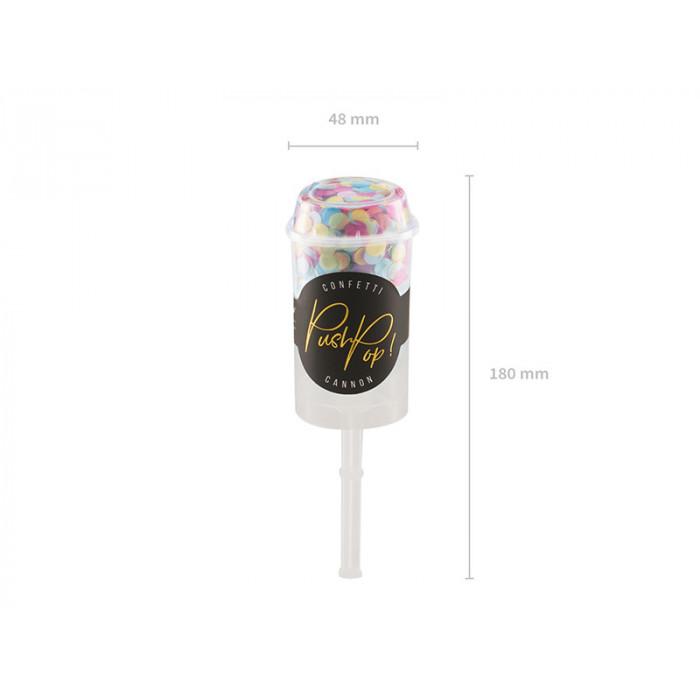 Świeczka urodzinowa Liczba 50, z brokatem