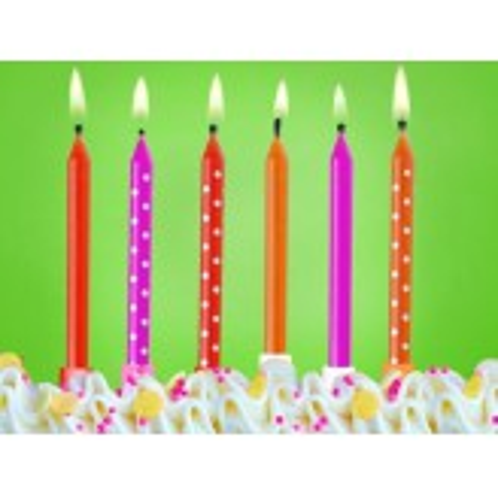 Świeczki urodzinowe Kolorowe, mix