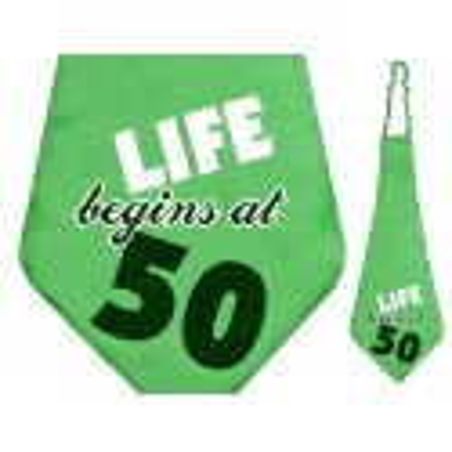 Krawat Life begins at 50, 59cm