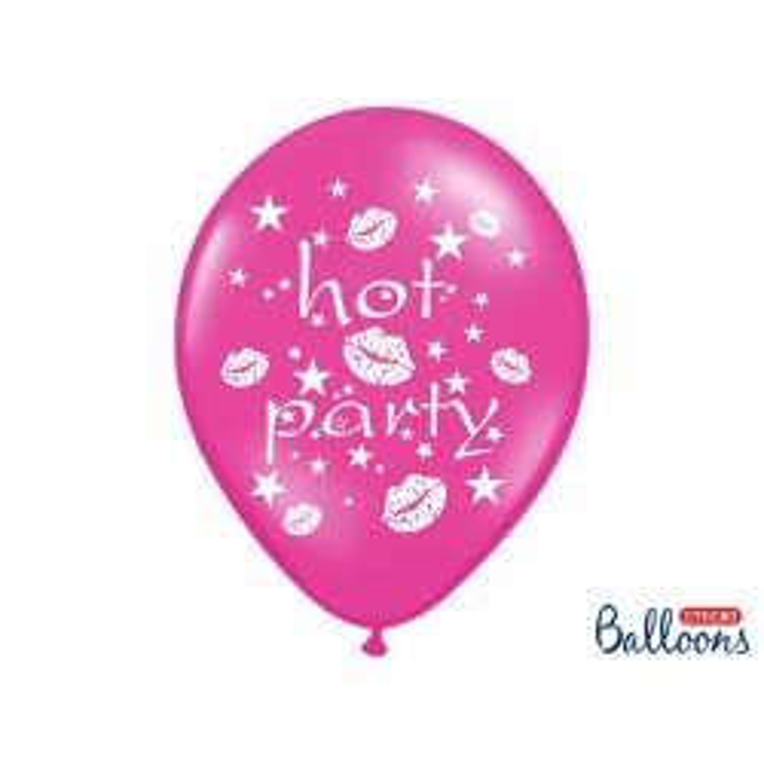 Balony 35 cm, Hot party, Metallic Hot Pink