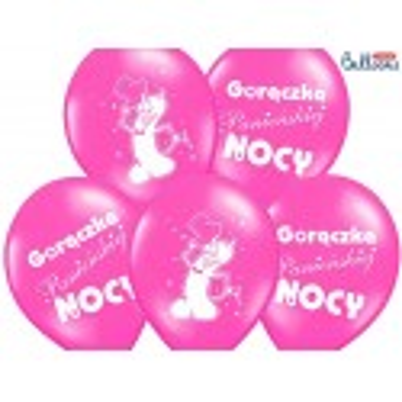 Balony 35 cm Gorączka..., Pastel Hot Pink