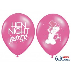 Balony 35 cm, Hen night party, P. Hot Pink