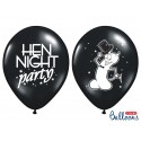 Balony 35 cm, Hen night party, Pastel Black