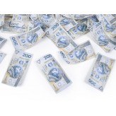 Tuba z banknotami 200 PLN, 40cm