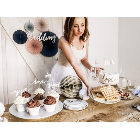 Okulary Żaluzje, biały