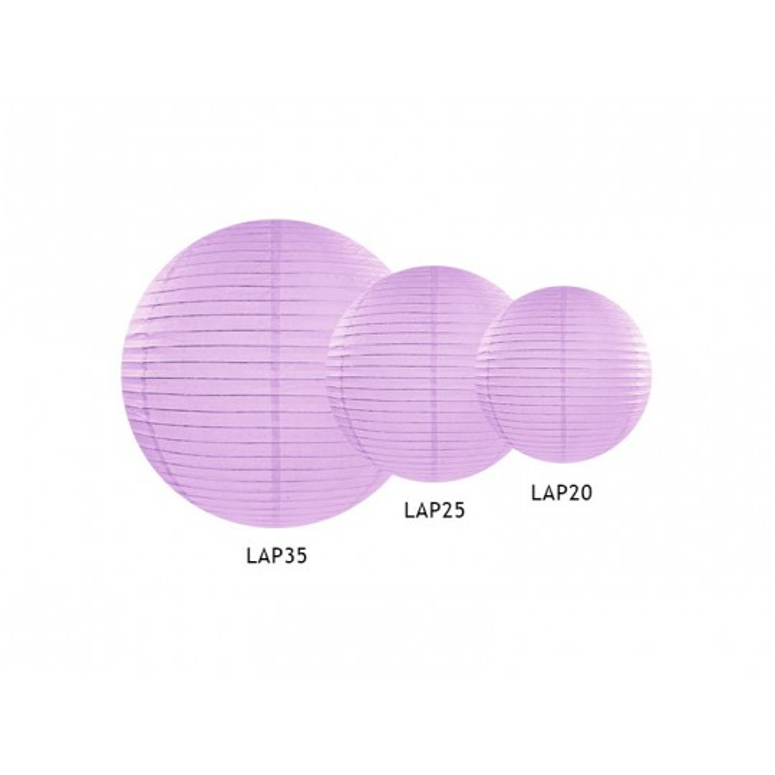 Lampion papierowy, lawenda, 20cm