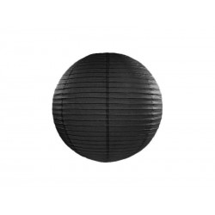 Lampion papierowy, czarny, 25cm