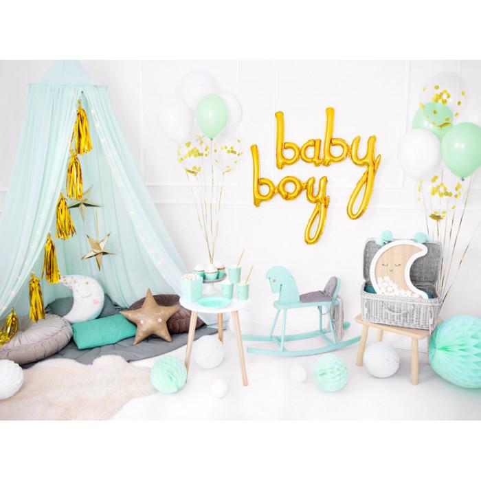 Lampion papierowy, złoty, 25cm