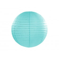 Lampion papierowy, tiffany blue, 35cm
