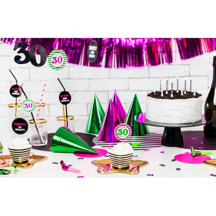 Lampion papierowy, k. niebieski, 35cm