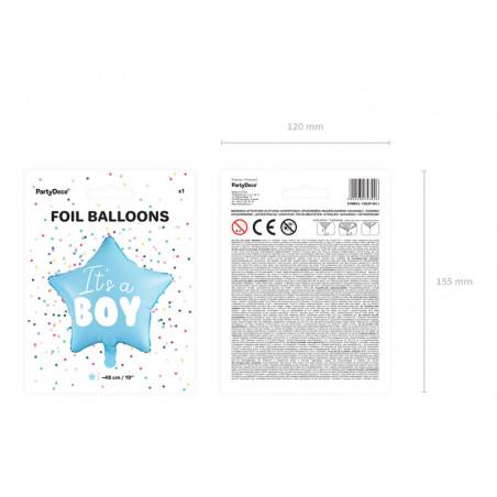Lampion papierowy, k. niebieski, 45cm