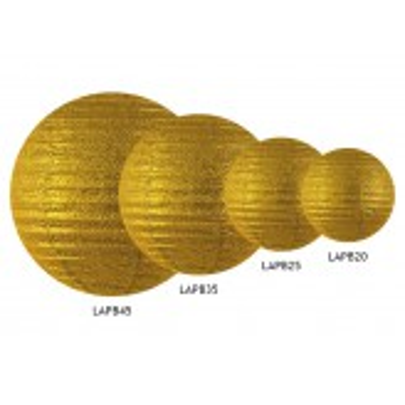 Lampion brokatowy, złoty, 20cm