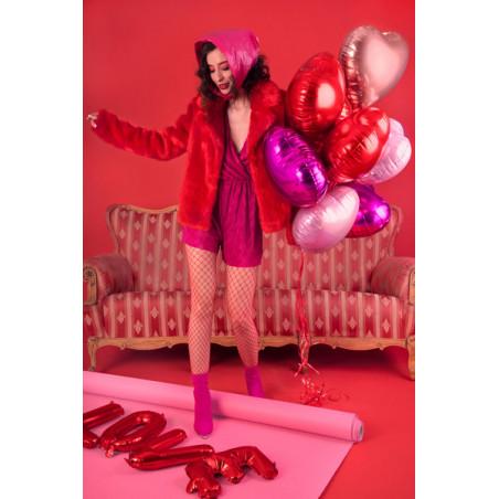 Pompon bibułowy, czerwony, 25cm