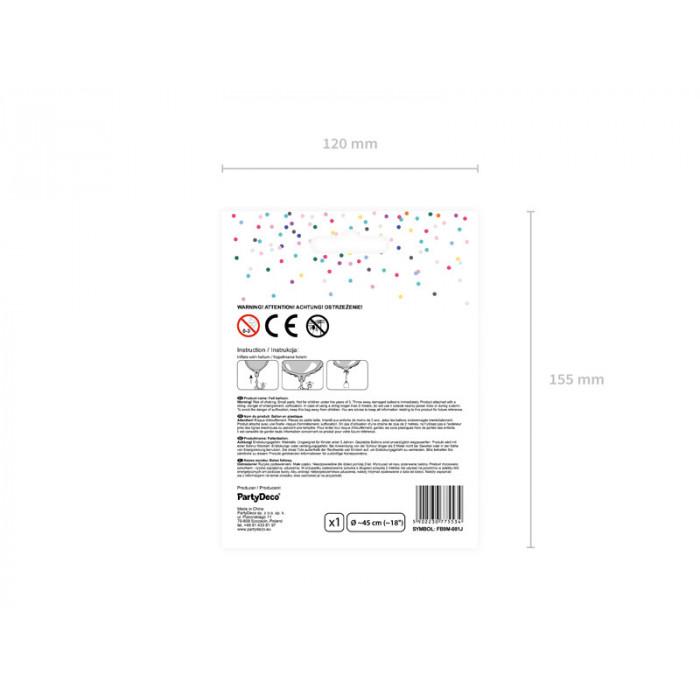 Pompon bibułowy, biały, 25cm