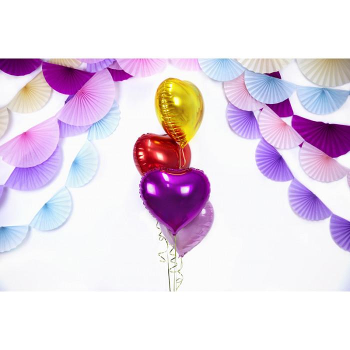 Pompon bibułowy, purpura, 25cm